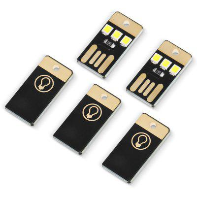 5PCS USB LED Mini Flashlight