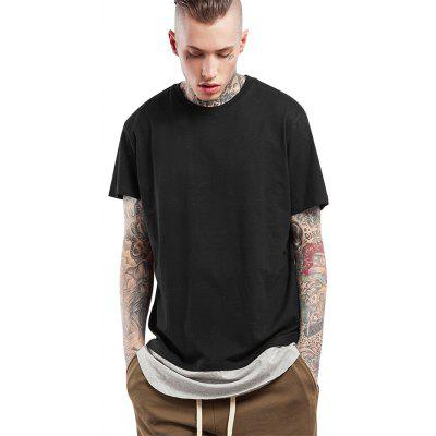 Spleißen Arc Hem Long T Shirts