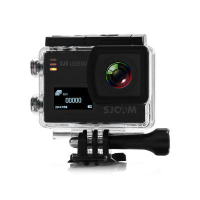 Original SJCAM SJ6 LEGEND 4K WiFi Action CameraAction Cameras<br>Original SJCAM SJ6 LEGEND 4K WiFi Action Camera<br><br>Aerial Photography: Yes<br>Anti-shake: Yes<br>Application: Extreme Sports, Underwater<br>Audio System: Built-in microphone/speaker (AAC)<br>Auto Focusing: No<br>Battery Capacity (mAh): 1000mAh<br>Battery Type: Removable<br>Brand: SJCAM<br>Camera Timer: Yes<br>Capacity: 1000mAh<br>Charge way: AC adapter,Car charger,USB charge by PC<br>Charging Time: About 3H<br>Chipset: Novatek 96660<br>Chipset Name: Novatek<br>Decode Format: H.264<br>Features: Wireless<br>Frequency: 50Hz,60Hz<br>Function: Camera Timer, Anti-Shake, G-sensor<br>G-sensor: Yes<br>Image Format: JPEG<br>Interface Type: AV-Out<br>Language: Czech,Danish,English,French,German,Hungarian,Italian,Japanese,Korean,Polski,Portuguese,Russian,Simplified Chinese,Slovak,Spanish,Traditional Chinese<br>Lens Diameter: 17.5mm<br>Max External Card Supported: Micro SD 128G (not included)<br>Microphone: Built-in<br>Model: SJ6 LEGEND<br>Motion Detection: No<br>Night vision: No<br>Package Contents: 1 x Action Camera, 1 x Waterproof Housing + Screw + Mount, 1 x Frame, 1 x Protective Backdoor, 2 x Helmet Mount, 2 x Adhesive, 3 x Connector + Screw, 1 x Bicycle Handle Bar Mount, 2 x Base, 1 x Tripod<br>Package size (L x W x H): 27.00 x 14.90 x 8.30 cm / 10.63 x 5.87 x 3.27 inches<br>Package weight: 0.7000 kg<br>Power Supply: 5V 1A<br>Product size (L x W x H): 5.90 x 4.10 x 2.11 cm / 2.32 x 1.61 x 0.83 inches<br>Product weight: 0.0820 kg<br>Screen: Dual Screen<br>Screen resolution: 320x240<br>Screen size: 2.0inch<br>Screen type: LTPS<br>Sensor: CMOS<br>Standby time: About 3 months<br>Time lapse: Yes<br>Type: Sports Camera<br>Type of Camera: 4K<br>Video format: MOV, MP4<br>Video Frame Rate: 60FPS<br>Video Resolution: 1080P(30fps),1080P(60fps),2K (30fps),4K (24fps),720P (120fps),720P (30fps),720P (60fps),VGA (240fps)<br>Waterproof: Yes<br>Waterproof Rating: IP68<br>Wide Angle: 166 degree wide angle lens<br>WIFI: Yes<br>WiFi Distance: Within 10M<br>Working Time: 110 minutes