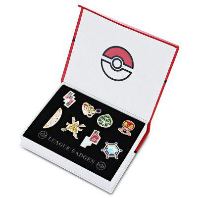 Alloy Badge for fan - 8pcs / set
