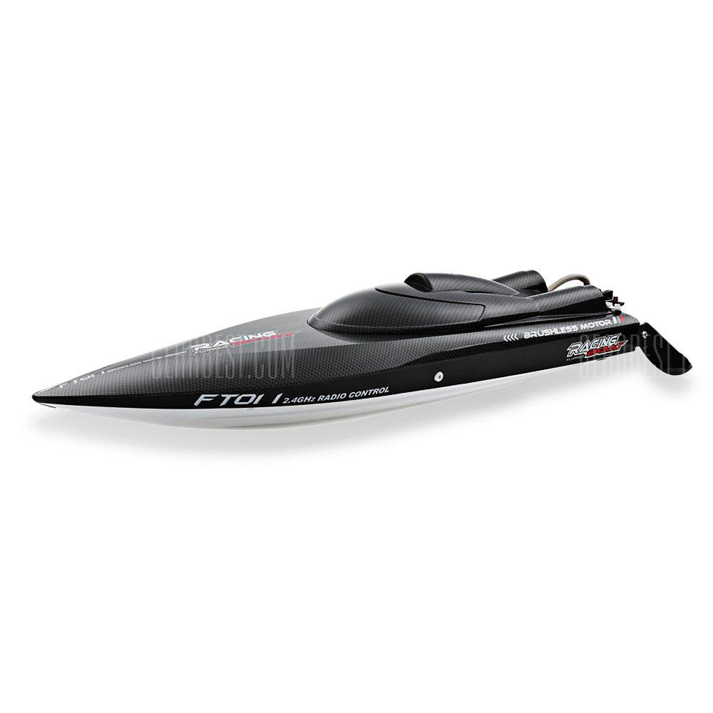 FeitLun FT011 2.4GHz Četkica bez četkica RC Racing Boat - BLACK AND WHITE AND RED
