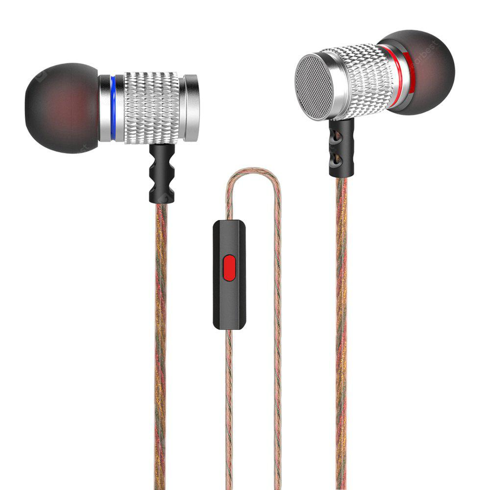 KZ EDR2 Mega Bass In-ear HiFi Earphones with Microphone - SILVER