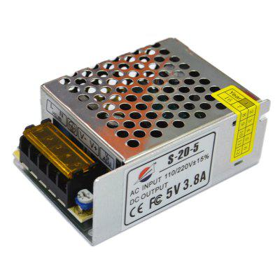 S - 20 - 5 19W 5V / 3.8A Switch Power Supply Driver for LED Light and Surveillance Security Camera ( 110  -  220V )