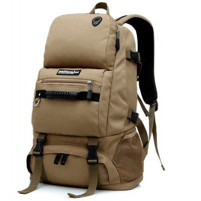 Buy KHAKI Fashionable 40L Rucksack Bag Backpack Durable Shoulder Pack Travel Camping Cycling Hiking Accessories for $25.50 in GearBest store