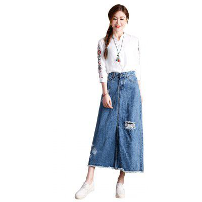 Female Jeans Skirt