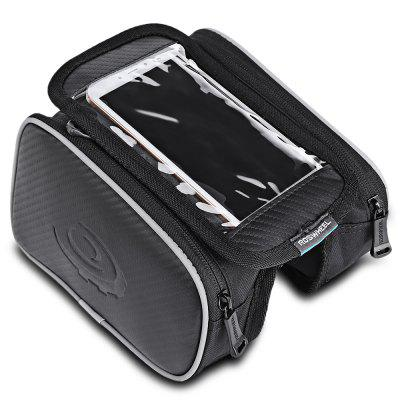 Roswheel 12813 1.8L Bicycle Front Top Tube Frame Bag 5.5 Inches Mobile Phone Pocket + Dual PouchesBike Bags<br>Roswheel 12813 1.8L Bicycle Front Top Tube Frame Bag 5.5 Inches Mobile Phone Pocket + Dual Pouches<br><br>Brand: Roswheel<br>Color: Black<br>Emplacement: Front Tube<br>For: Unisex<br>Model Number: 12813<br>Package Contents: 1 x Roswheel 12813 Bicycle Dual Pouches Bag<br>Package Dimension: 20.00 x 16.00 x 8.00 cm / 7.87 x 6.3 x 3.15 inches<br>Package weight: 0.215 kg<br>Product Dimension: 18.00 x 11.00 x 10.50 cm / 7.09 x 4.33 x 4.13 inches<br>Product weight: 0.192 kg<br>Size: M<br>Suitable for: Road Bike, Mountain Bicycle
