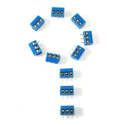 10PCS 3 Pin 5.0mm Terminal Blocks Connector for DIYDIY Parts &amp; Components<br>10PCS 3 Pin 5.0mm Terminal Blocks Connector for DIY<br><br>Package Contents: 10 x Terminal Blocks Connector<br>Package Size(L x W x H): 9.00 x 6.00 x 2.50 cm / 3.54 x 2.36 x 0.98 inches<br>Package weight: 0.0350 kg<br>Product Size(L x W x H): 1.50 x 0.60 x 1.30 cm / 0.59 x 0.24 x 0.51 inches<br>Product weight: 0.0180 kg<br>Type: Other
