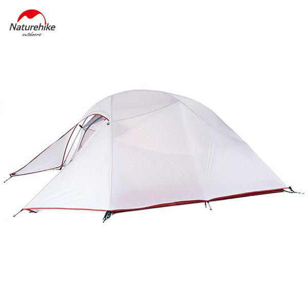 Naturehike Professional 20D 380T Silicone Camping Ultraviolet - proof Waterproof Tent for 3 - 4 Persons - LIGHT GRAY