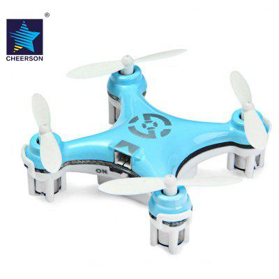 Cheerson CX - 10 Portable 2.4G 4CH 6 Axis Gyro RC Quadcopter with Night Light Wonderful for Christmas Eve- BLUE