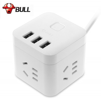 Bull GN - U303N Power Strip 3 Outlet 3 USB Port