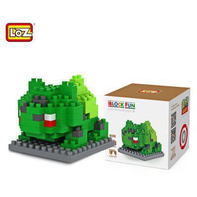LOZ 120Pcs M - 9139 Pokemon Bulbasaur Building Block Educational Toy for Cooperation Ability