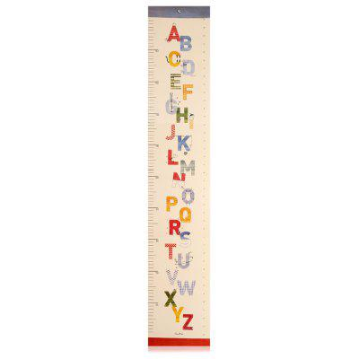 Cartoon Letter Baby Kid Folding Growth Chart