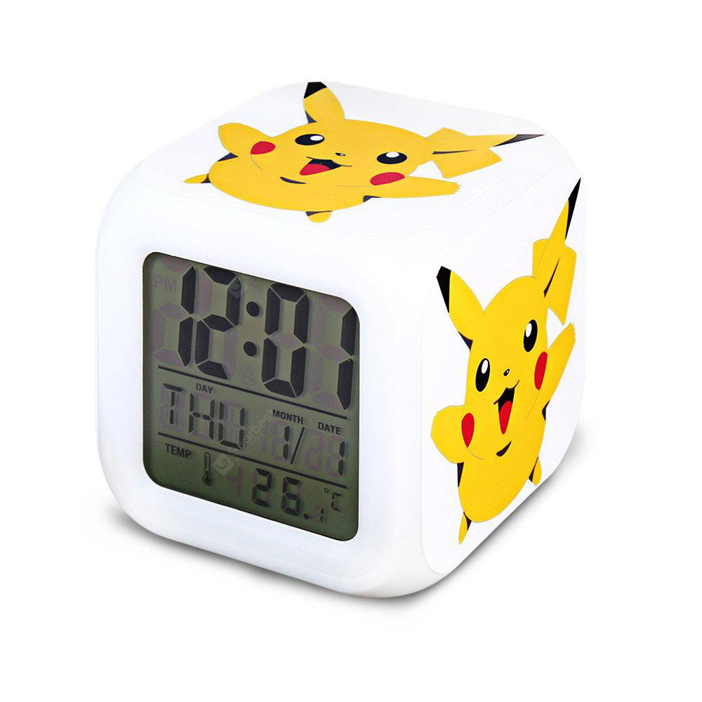 7 Color Change Cartoon Pattern LED Digital Alarm Clock