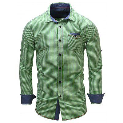 FREDD MARSHALL FM106 Male Casual Check Long Sleeve Shirt