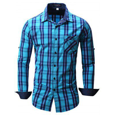 FREDD MARSHALL FM102 Male Check Casual Long Sleeve Shirt