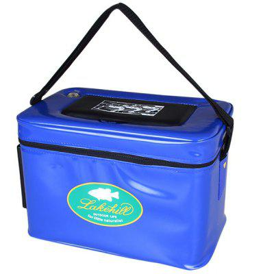 Big Size Zipper Shrimp Box with Small Opening Air Hole and Strap for Shrimping (Blue)