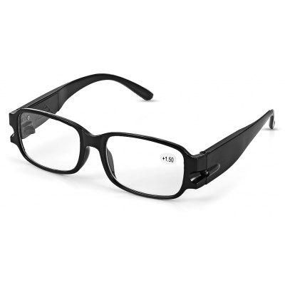 Buy WHITE LED Reading Glasses +1.5 Diopter Magnifier Currency Detect Function Eyeglass for $2.75 in GearBest store