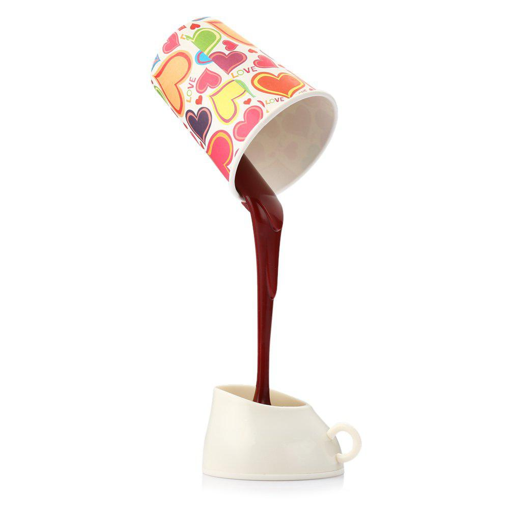 Pouring Coffee Pattern LED Light Table Lamp for House Ornament