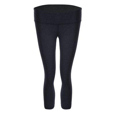 Women Yoga Cropped Pants Pure Color