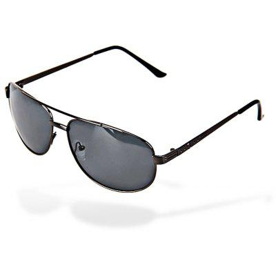 Valentine Metal Frame UV Protection Men Driving Sunglasses with Gray TAC Polarized Lens