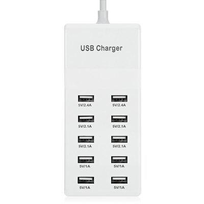 10 USB Power Adapter Charger Dock Quick Charge Station