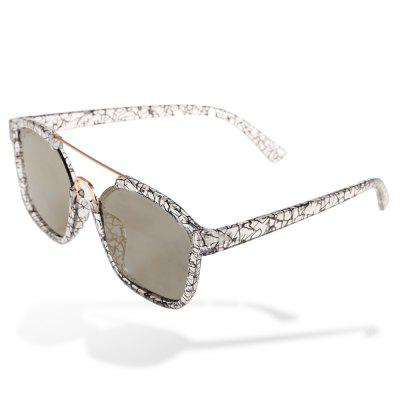1201 UV-resistant Sunglasses with Pattern Frame
