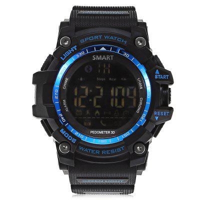 AIWATCH XWATCH Bluetooth SmartwatchSmart Watches<br>AIWATCH XWATCH Bluetooth Smartwatch<br><br>Alert type: Ring<br>Available Color: Black,Blue,Gold,Red<br>Band material: TPU<br>Band size: 25.00 x 2.2 cm / 9.84 x 0.37 inches<br>Battery  Capacity: 210mAh<br>Bluetooth calling: Phone call reminder<br>Bluetooth Version: Bluetooth 4.0<br>Brand: AiWatch<br>Built-in chip type: SI-BW03<br>Case material: TPU<br>Compatability: Android 4.3 / iOS 7.0 and above systems<br>Compatible OS: IOS, Android<br>Dial size: 5.50 x 5.50 x 1.80 cm / 2.17 x 2.17 x 0.71 inches<br>Groups of alarm: 3<br>Health tracker: Pedometer<br>IP rating: IP67 ( or 5ATM )<br>Messaging: Message reminder<br>Notification: Yes<br>Notification type: Facebook, Wechat, WhatsApp, Twitter, Skype, QQ<br>Operating mode: Press button<br>Other Function: Alarm, Stopwatch<br>Package Contents: 1 x AIWATCH XWATCH Smartwatch, 1 x English Manual<br>Package size (L x W x H): 10.00 x 10.00 x 7.50 cm / 3.94 x 3.94 x 2.95 inches<br>Package weight: 0.1710 kg<br>People: Male table<br>Product size (L x W x H): 25.00 x 5.50 x 1.80 cm / 9.84 x 2.17 x 0.71 inches<br>Product weight: 0.0700 kg<br>Remote control function: Remote Camera<br>Screen: LCD<br>Screen size: 1.12 inch<br>Shape of the dial: Round<br>Standby time: 12 months<br>Type of battery: 1 x CR2032 battery  ( included )<br>Waterproof: Yes<br>Wearing diameter: 170-200mm
