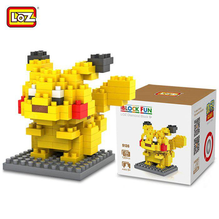 Buy LOZ 12M - 9136 Pokemon Pikachu Building Block Educational Toy Cooperation Ability YELLOW