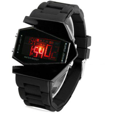 Sanda P028G Silicone Band LED Digital Men Watch for Outdoor Activities