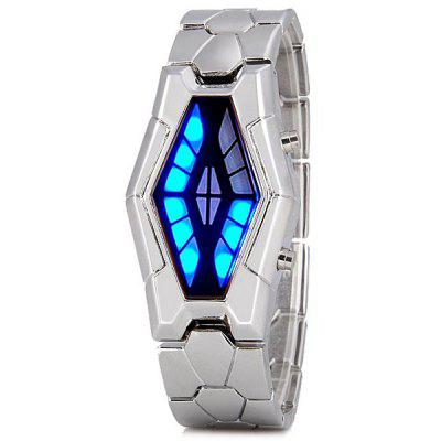 Fashion Men LED Snake Head Stainless Steel Band Bracelet Wrist Watch