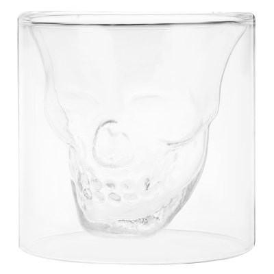 Creative Skull Design Crystal Transparent Glass Cup HD0306501