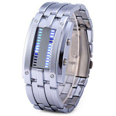 Skmei 0926 Military LED Watch Date Corps en acier inoxydable résistant à l'eau 3ATM