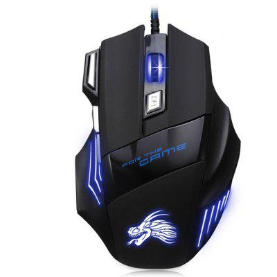X3 USB Wired Optical Gaming Mouse tecknet gryphon led illuminated programmable 3 colors backlight usb wired gaming keyboard and mouse with water resistant design