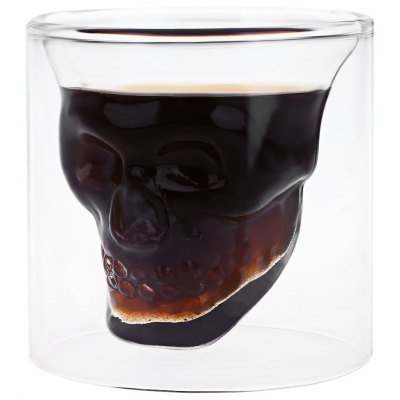 Small Creative Crystal Skull Transparent Glass Cup