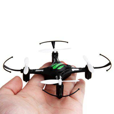 JJRC H8 Mini Headless Mode 2.4G 4CH RC Quadcopter 6 Axis Gyro 3D Flip UFO One Key Return AircraftRC Quadcopters<br>JJRC H8 Mini Headless Mode 2.4G 4CH RC Quadcopter 6 Axis Gyro 3D Flip UFO One Key Return Aircraft<br><br>Battery: 3.7V 150mAh<br>Brand: JJRC<br>Built-in Gyro: Yes<br>Channel: 4-Channels<br>Detailed Control Distance: Unknown<br>Features: Radio Control<br>Functions: Wings flap, Up/down, Turn left/right, Sideward flight, Forward/backward, 3D rollover, 360 degrees spin<br>Kit Types: RTF<br>Level: Beginner Level<br>Material: Plastic, Electronic Components, Alloy<br>Mode: Mode 2 (Left Hand Throttle)<br>Motor Type: Brushed Motor<br>Night Flight: Yes<br>Package Contents: 1 x Quadcopter, 1 x RC Transmitter, 1 x USB Charging Plug, 1 x English / Chinese Manual, 2 x Spare Blade, 1 x  Copter Battery, 4 x Pad, 1 x Screwdriver<br>Package size (L x W x H): 15.00 x 14.00 x 8.00 cm / 5.91 x 5.51 x 3.15 inches<br>Package weight: 0.2000 kg<br>Radio Mode: Mode 2 (Left-hand Throttle)<br>Remote Control: 2.4GHz Wireless Remote Control<br>Transmitter Power: 3 x AAA battery(not included)
