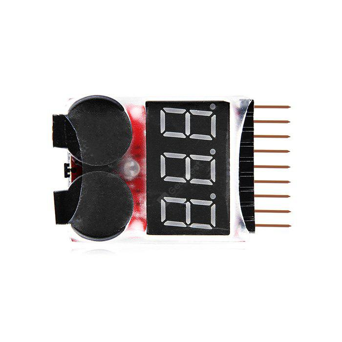 Remote Control Helicopter Multicopter Spare parts Lipo LiFe LiMn Li-ion Battery Monitor Alarm Low Voltage Buzzer Alarm Indicator 1S-8S