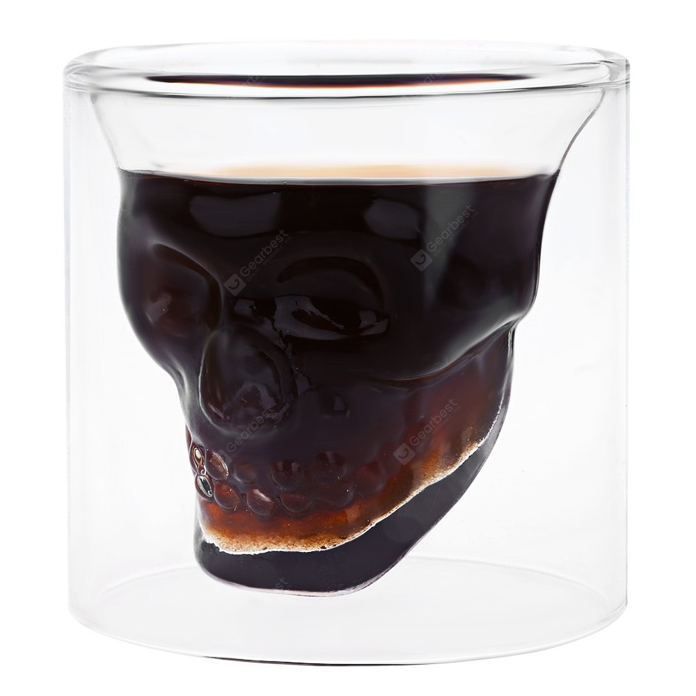 Creative Skull Design Crystal Transparent Glass Cup - TRANSPARENT