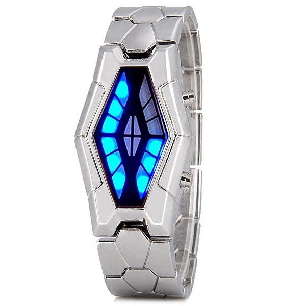 Fashion Hommes LED Snake Head Bracelet en Aacier Inoxydable Bracelet
