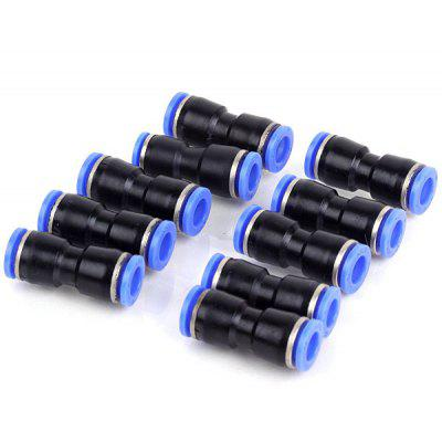 PU10 High Quality 10mm Two Way Air Tube Push in Joint Pneumatic Fitting Connector  -  10PCS