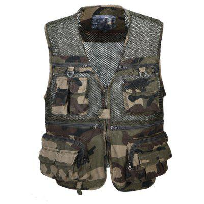 Fishing Photography Jacket Vest Outdoor Activities Multi - pocket Waistcoat for Men