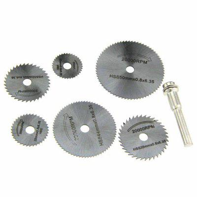 Buy SILVER 7PCS Circular Saw Blade Cutting Disk High Speed Steel Tool for $4.21 in GearBest store