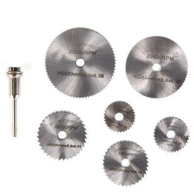 7PCS Circular Saw Blade Cutting Disk High Speed Steel Tool
