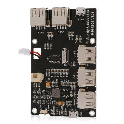 3800mAh Battery Expansion Board USB Hub for Raspberry Pi