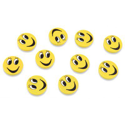 FUNI CT-6659 Office Smile Round Magnets Message Stickers Beans 10PCS