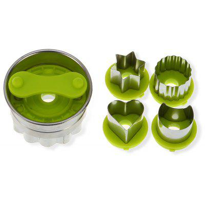 5PCS Stainless Steel Cookie Cutter Cake Fondant Mold