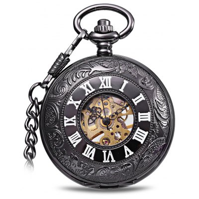 Vintage Style Mechanical Pocket Watch of Flip Design