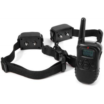 300m Remote Control LCD Dog Training Collar for 2 Dogs