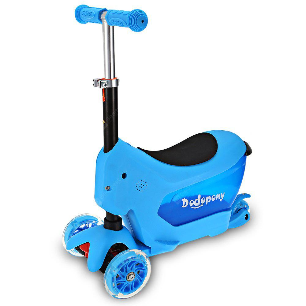 Tongqing 3 in 1 Kids Kick Scooter with Soft Cushion