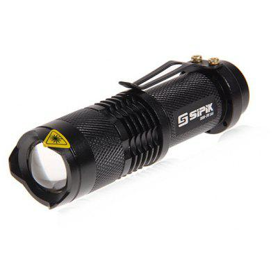 sipik sk68 cree q5 350lm 3 mode led torch flashlight