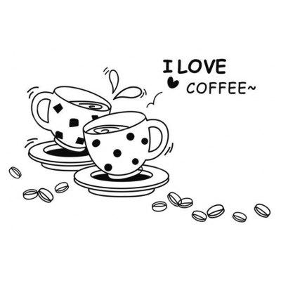 I Love Coffee Home Wall Decals Appliances Decoration